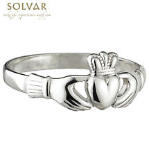 Irish Claddagh Ring - Sterling Silver Ladies Dainty Claddagh Ring