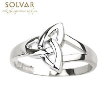 Trinity Knot Ring - Ladies Sterling Silver Trinity Knot