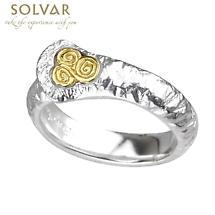 Irish Rings - Ladies Sterling Silver Two Tone Newgrange Ring