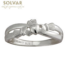 Claddagh Ring - Ladies Sterling Silver Claddagh Kiss