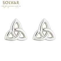 Sterling Silver Trinity Knot Earrings