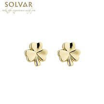 18k Gold Plated Shamrock Earrings