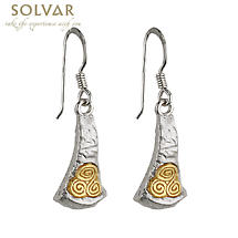 Sterling Silver Two Tone Newgrange Earrings