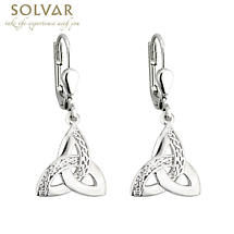 Celtic Earrings - Sterling Silver Celtic Trinity Knot Earrings