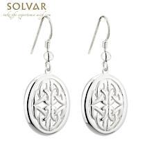 Celtic Earrings - Sterling Silver Failte Celtic Drop Earrings