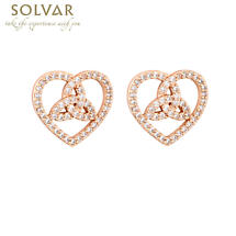 Irish Earrings - Trinity Rose Gold Plated Crystal Earrings