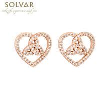 Irish Earrings - Trinity Rose Gold Plated Crystal Earrings