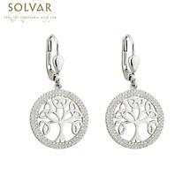 Celtic Earrings - Tree of Life Sterling Silver Irish Drop Earrings