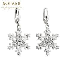 Irish Earrings - Snowflake Trinity Knot Earrings