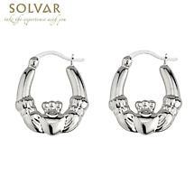 Small Claddagh Hoop Earrings