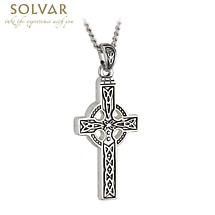 Celtic Pendant - First Communion Stainless Steel Celtic Cross Pendant with Chain