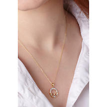Irish Necklace - 14k Gold and Micro Diamond Claddagh Pendant with Chain