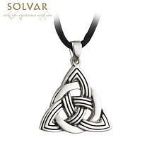 Celtic Pendant - Pewter Celtic Trinity Knot Pendant with Cord