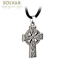 Celtic Pendant - Pewter Celtic Cross Pendant with Cord