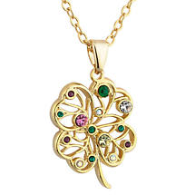 Irish Necklace - Lucky Irish Four Leaf Clover Pendant
