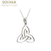 Irish Pendant - Sterling Silver Open Celtic Trinity Knot Necklace