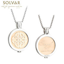 Irish Coin Pendant - Celtic Knot Coin Gold Plated Pendant