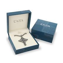 Irish Mens Pendant - Celtic Cross Pewter Style Pendant on 26 inch chain