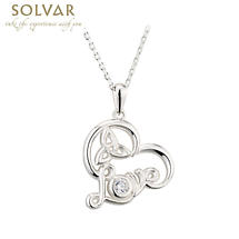 Irish Necklace - Sterling Silver Irish Love Heart Pendant