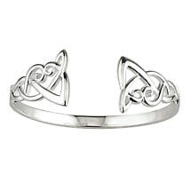 Celtic Bangle Sterling Silver Knot
