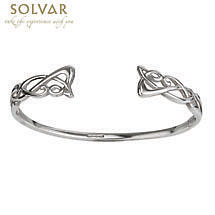 Celtic Bracelet - Sterling Silver Torc Bangle
