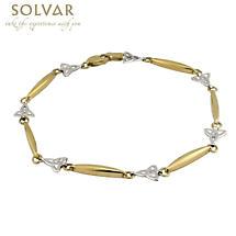 Celtic Bracelet - 14k Gold Two Tone Trinity Knot Bracelet