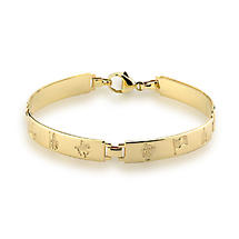 Irish Bracelet - History of Ireland 14k Gold 4 Link Bracelet