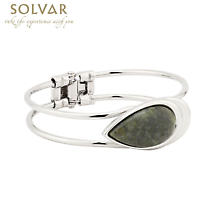 Irish Bracelet - Rhodium Plated Connemara Marble Bangle