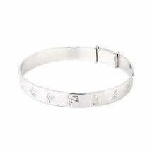 Irish Bracelet - Sterling Silver History of Ireland Kids Bangle