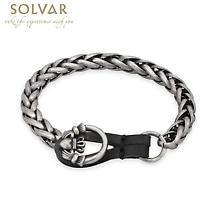 Irish Mens Bracelet - Claddagh Pewter Style Man's Bracelet