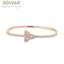 Irish Bangle - Rose Gold Plate Crystal Trinity Bangle