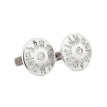 Irish Cufflinks - Sterling Silver History of Ireland Round Cufflinks