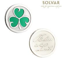 Irish Shamrock Enamel Coin by Solvar Jewelry