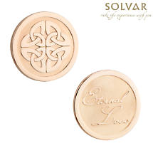 Irish Rose Gold Plated Celtic Knot Coin by Solvar Jewelry