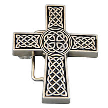 Celtic Knot Cross Belt Buckle