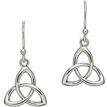 Trinity Knot Earrings - Sterling Silver Celtic Trinity Knot Earrings