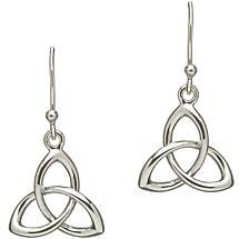 Trinity Knot Earrings - Sterling Silver Celtic Trinity Knot Earrings