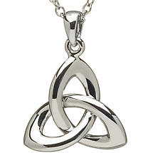 Trinity Knot Pendant - Sterling Silver Celtic Trinity Knot Pendant with Chain