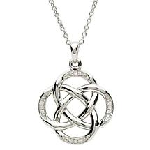 Celtic Necklace - Sterling Silver Celtic Circles Pendant