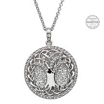 Irish Necklace - Sterling Silver Tree of Life Pendant Embellished with Swarovski Crystals