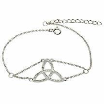 Irish Bracelet - Trinity Knot Bracelet with Swarovski Crystals