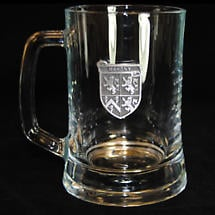 Personalized Pewter Irish Coat of Arms Beer Mug - Set of 4
