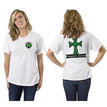 Irish T-Shirt - Celtic Cross Short Sleeve White T-Shirt