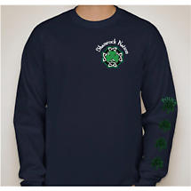 Irish T-Shirt - Shamrock Nation Police Long Sleeve Navy Blue T-Shirt