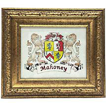Personalized Irish Coat of Arms Framed Print - Victorian Gold Frame