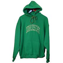 Irish Sweatshirt - Kelly Green Irish Arc Embroidered Hooded Sweatshirt