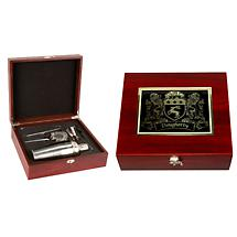 Personalized Irish Coat of Arms Martini Kit - Rosewood Finish