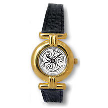 Ladies Celtic Spirals Watch - Gold Plated 'Sequana'