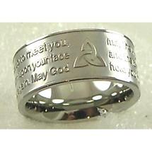 Irish Ring - Irish Blessing Stainless Steel Ring