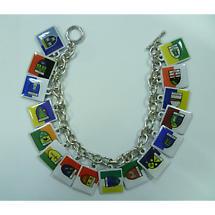 Irish Bracelet - 32 County Flags Toggle Bracelet
